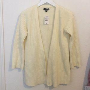 NWT J Crew cream cardigan sweater XS/XXS